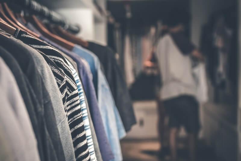 Voorraad kledingzaak