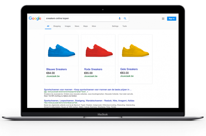 google shopping instagram webshop starten
