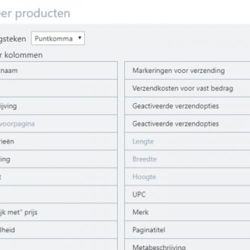 producten eenvoudig exporteren webshop